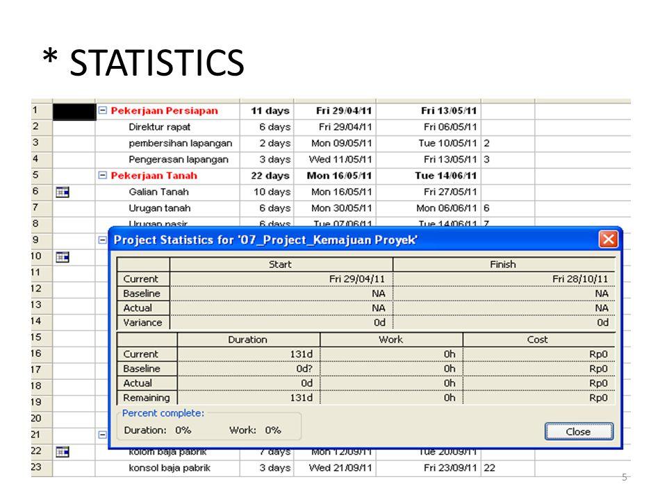 * STATISTICS 5