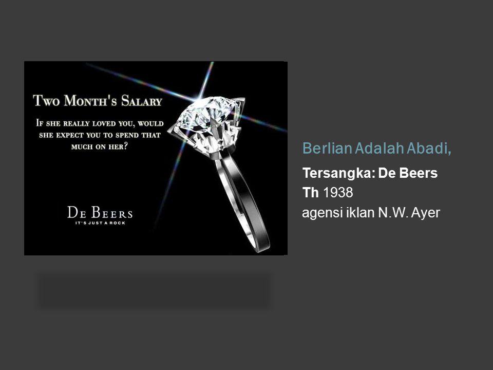 Berlian Adalah Abadi, Tersangka: De Beers Th 1938 agensi iklan N.W. Ayer