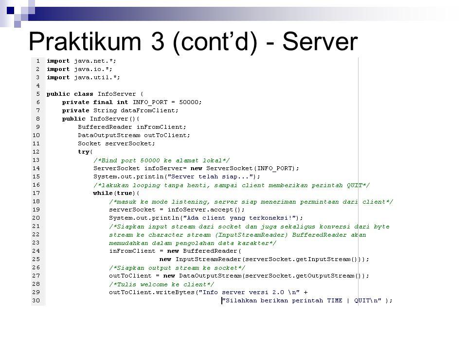 Praktikum 3 (cont'd) - Server
