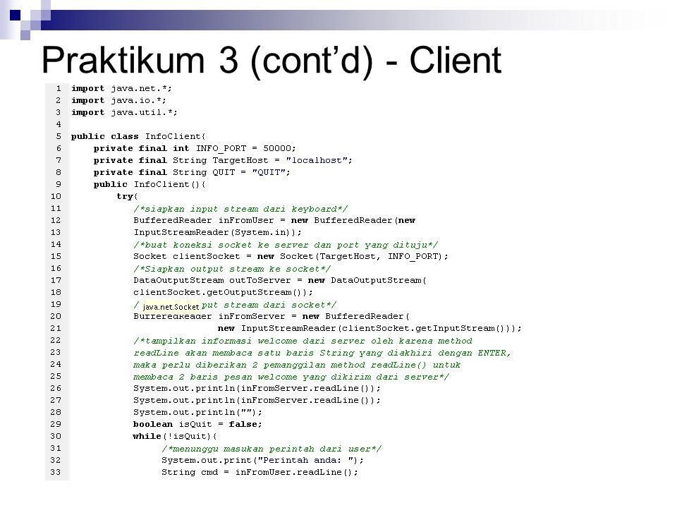 Praktikum 3 (cont'd) - Client
