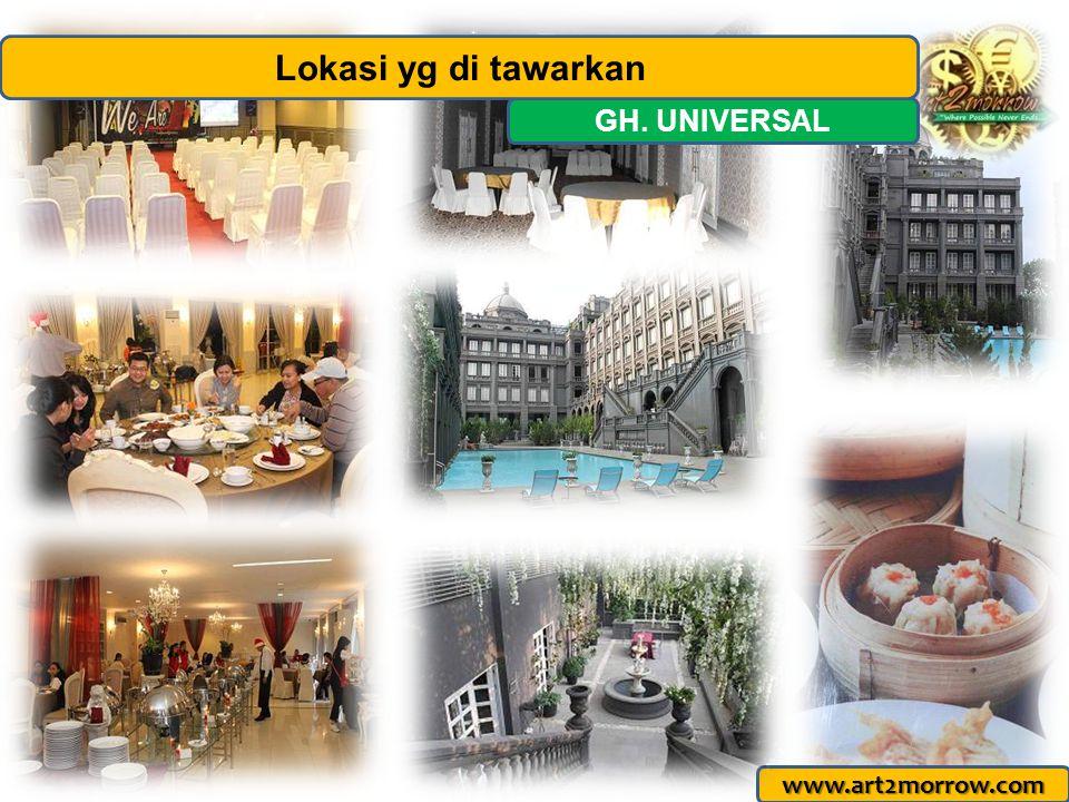 www.art2morrow.com GH. UNIVERSAL Lokasi yg di tawarkan