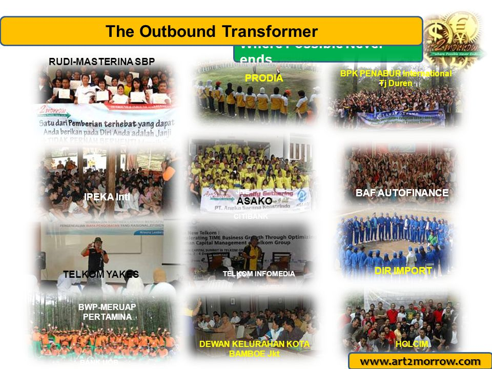 www.art2morrow.com Where Possible Never ends… The Outbound Transformer