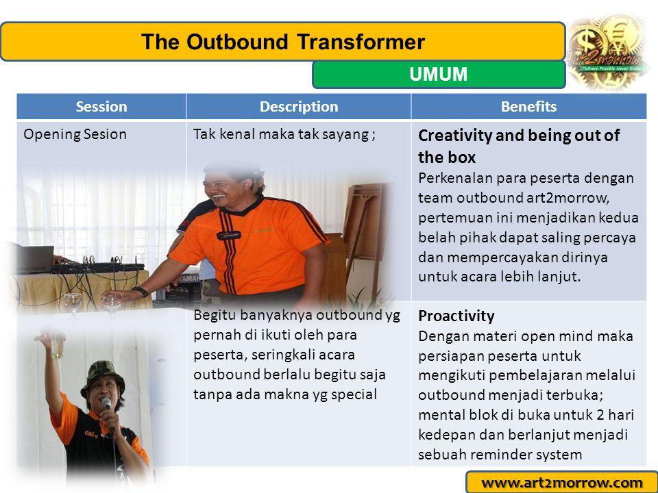 www.art2morrow.com Management: Art2morrow The Outbound Transformer Griya asri Cahaya Cipageran I no 43 Jl.