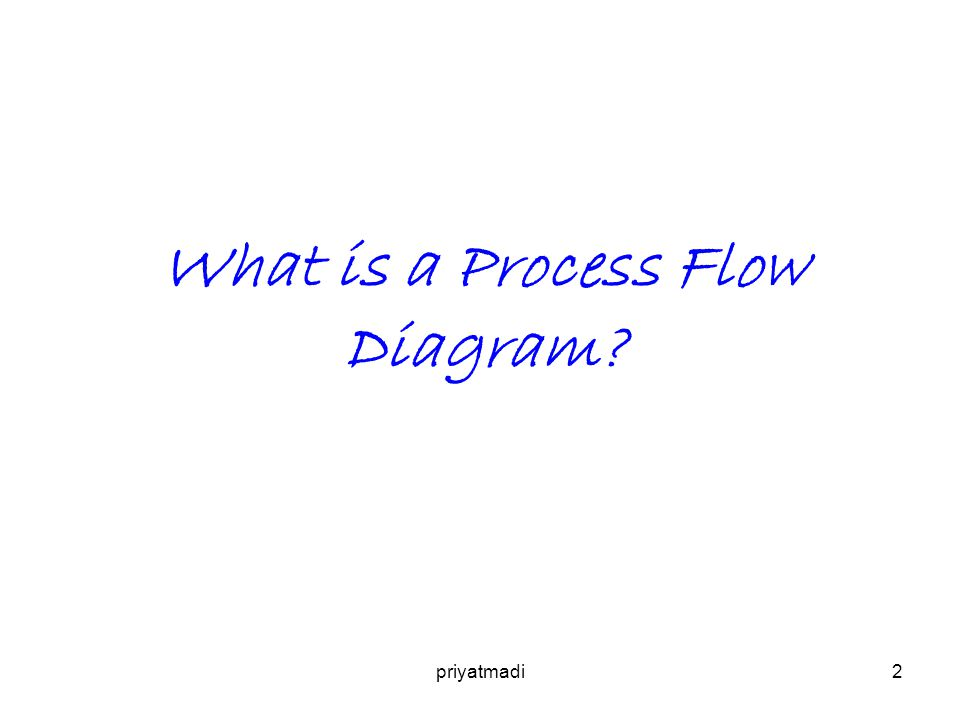 priyatmadi2 What is a Process Flow Diagram?
