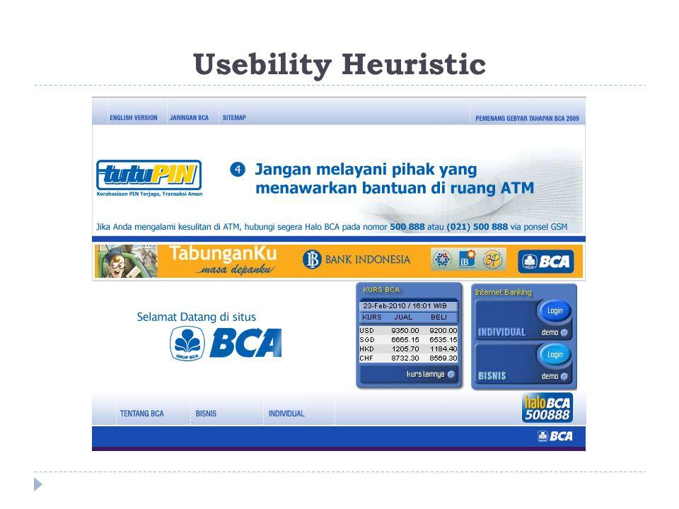 Usebility Heuristic