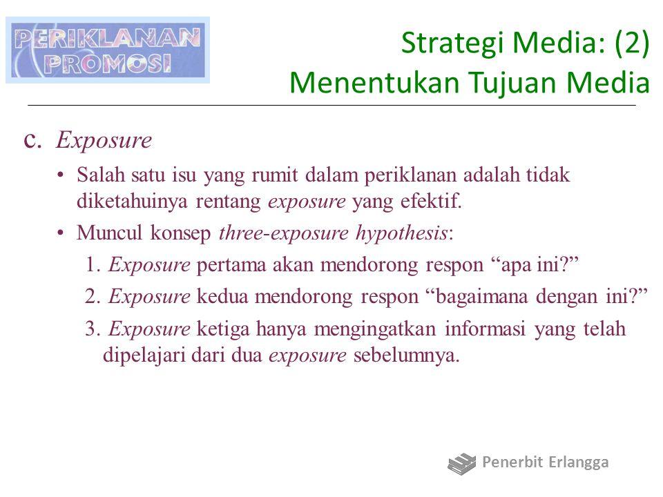 Strategi Media: (2) Menentukan Tujuan Media c.