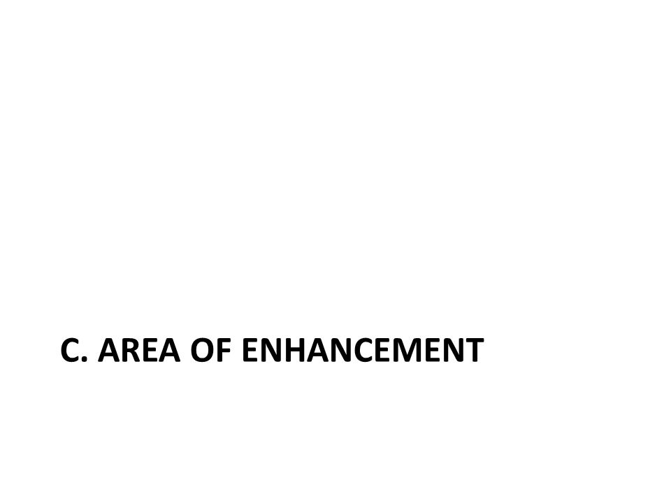 C. AREA OF ENHANCEMENT