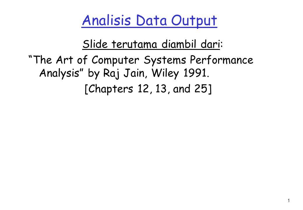 2 Outline r Pengukuran Central Tendency m Mean, Median, Mode r Bagaimana merangkum Variabilitas.