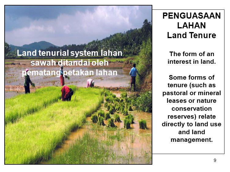 40 Penggunaan lahan intensif