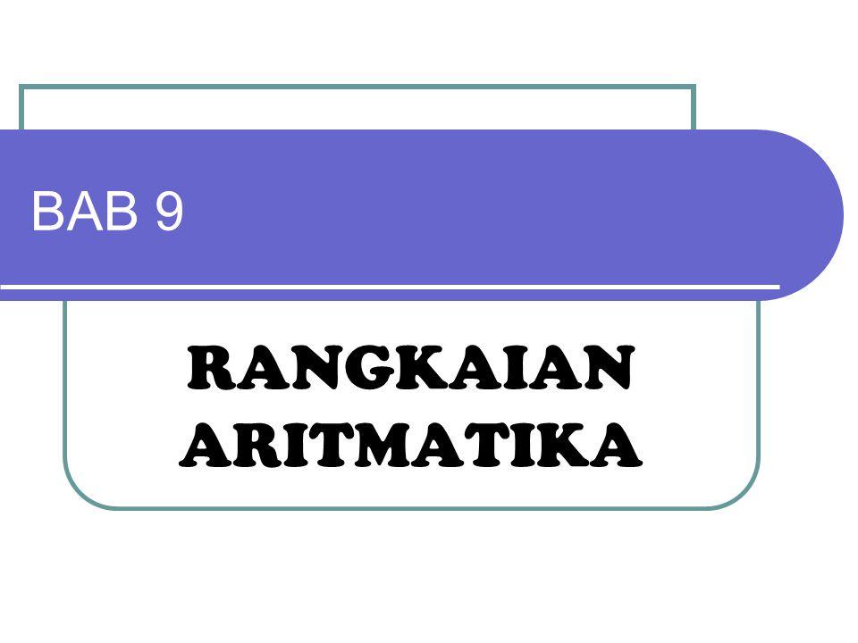 Komplemen 2 Range Bilangan  Range bilangan positif 0 s/d 2 n-1 -1  Range bilangan negatif -1 s/d 2 n-1  n adalah panjang 1 byte (jumlah bit)  Contoh: (system 8 bit) 0 – 2 7 -1 = 0s/d127  0000 0000 – 0111 1111 -1 – 2 7 = -1 s/d -128  1111 1111 – 1000 0000