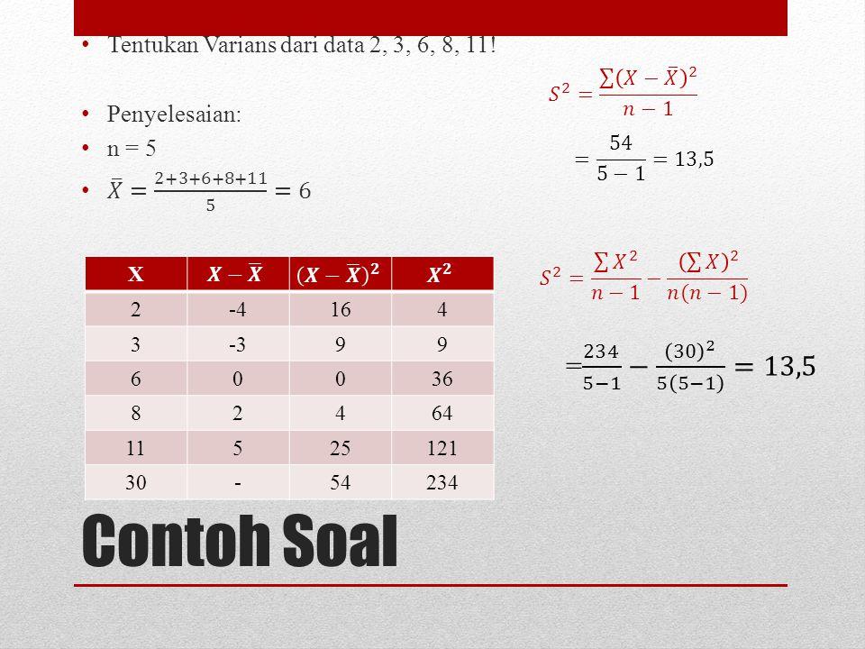 Contoh Soal X 2-4164 3-399 60036 82464 11525121 30-54234