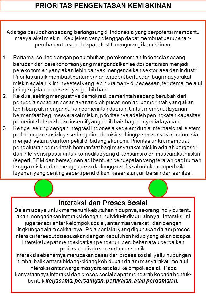 PRIORITAS PENGENTASAN KEMISKINAN Ada tiga perubahan sedang berlangsung di Indonesia yang berpotensi membantu masyarakat miskin. Kebijakan yang diangga