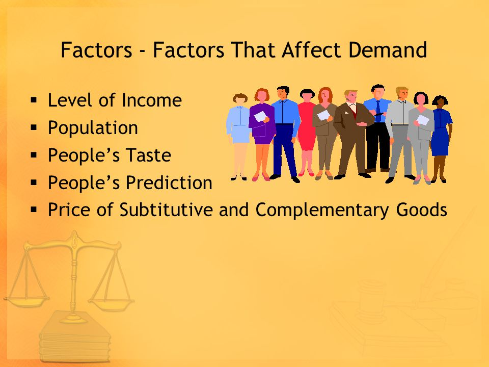 Assumption of the law of demand and supply Assumptions underlying the law of demand and supply of other factors being equal that changes only the pric