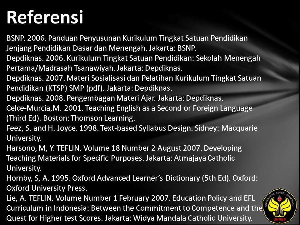 Referensi BSNP.2006.