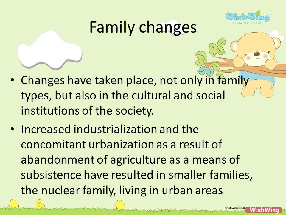 Issues in the family changes 1.Apakah anak akan tetap dapat bertahan dalam struktur yang namanya keluarga.