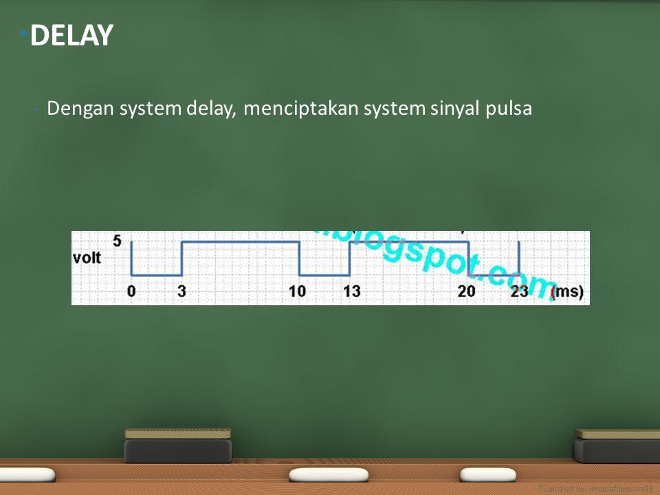 Dengan system delay, menciptakan system sinyal pulsa DELAY Published by. imeldaflorensia91
