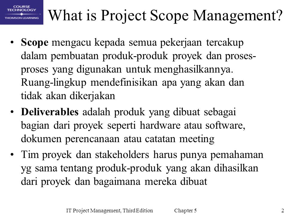 13IT Project Management, Third Edition Chapter 5 Table 5-4: Executing Tasks for JWD Consulting's WBS