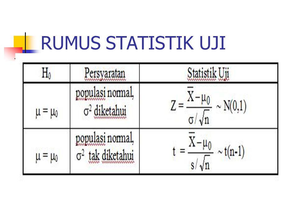 RUMUS STATISTIK UJI