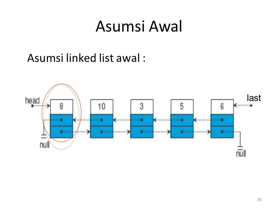 38 Asumsi Awal Asumsi linked list awal : last