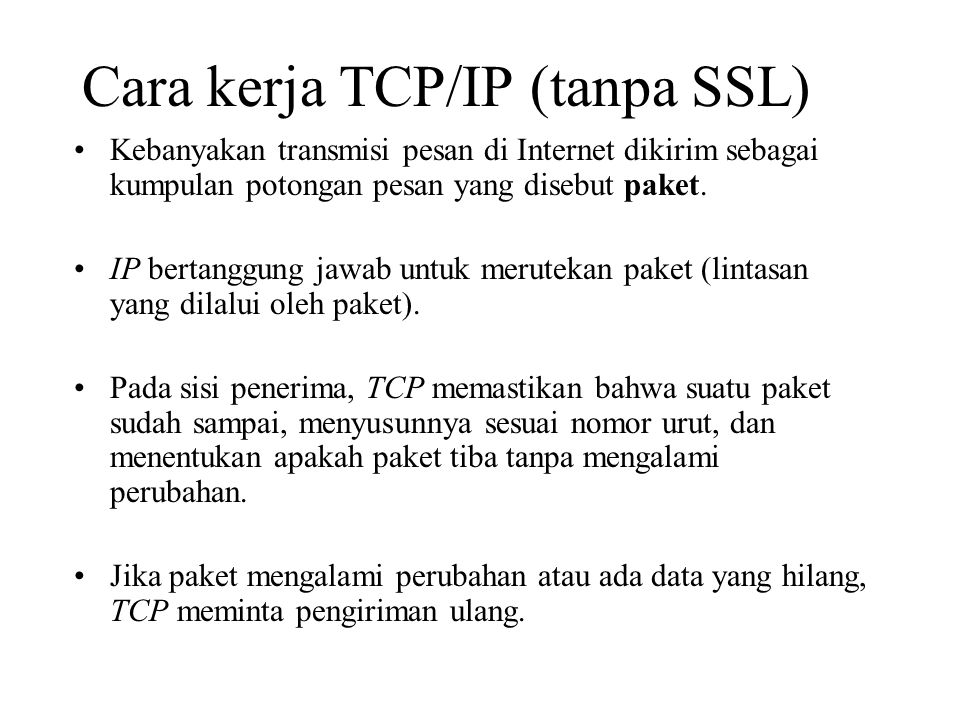 Kebanyakan transmisi pesan di Internet dikirim sebagai kumpulan potongan pesan yang disebut paket. IP bertanggung jawab untuk merutekan paket (lintasa