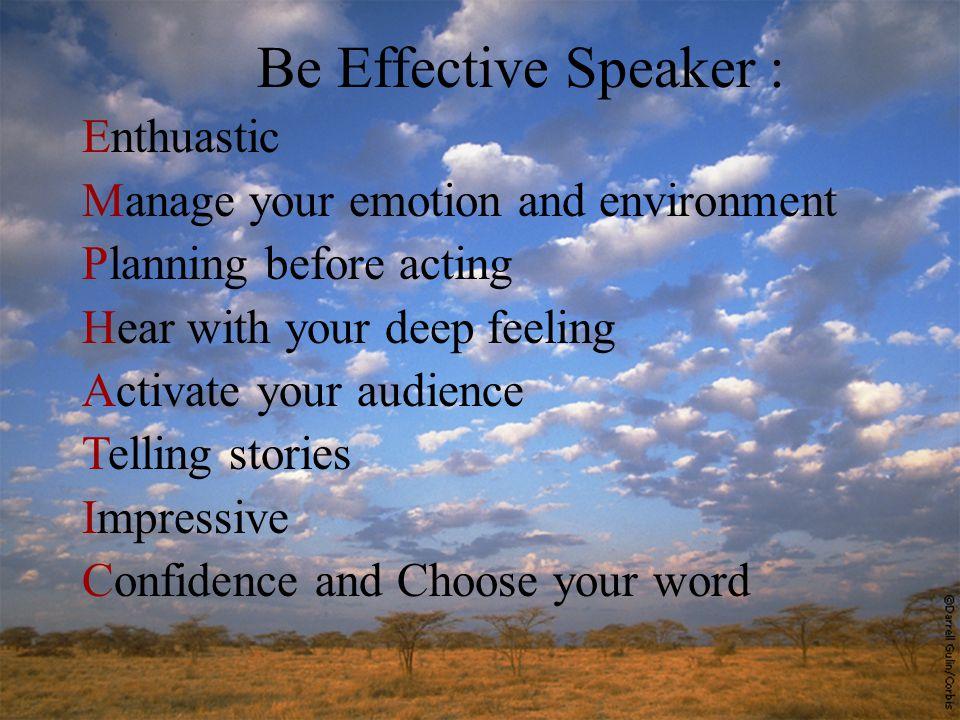 PRESENTASI EFEKTIF Persiapan Presentasi Efektif : 1.Membangun keyakinan diri 2.Mengetahui medan presentasi 3.Menyiapkan alur dan struktur bahasan dengan mempertimbangkan waktu yang tersedia 4.Menentukan cara dan media yang digunakan