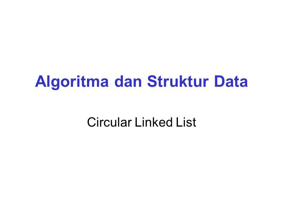 Algoritma dan Struktur Data Circular Linked List