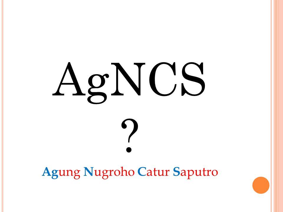 AgNCS ? Ag ung N ugroho C atur S aputro