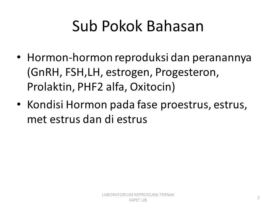 Endocrinologi Reproduksi,Trinil susilawati23 Pro estrus Tanda-tanda : Ternak menaiki tetapi tidak mau dinaiki -Banyak Folikel -Keadaan hormon : FSH meningkat Estrogen meningkat