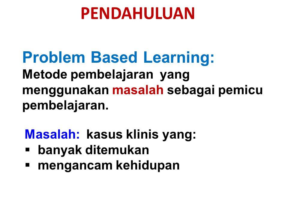 Problem Based Learning: Metode pembelajaran yang menggunakan masalah sebagai pemicu pembelajaran.