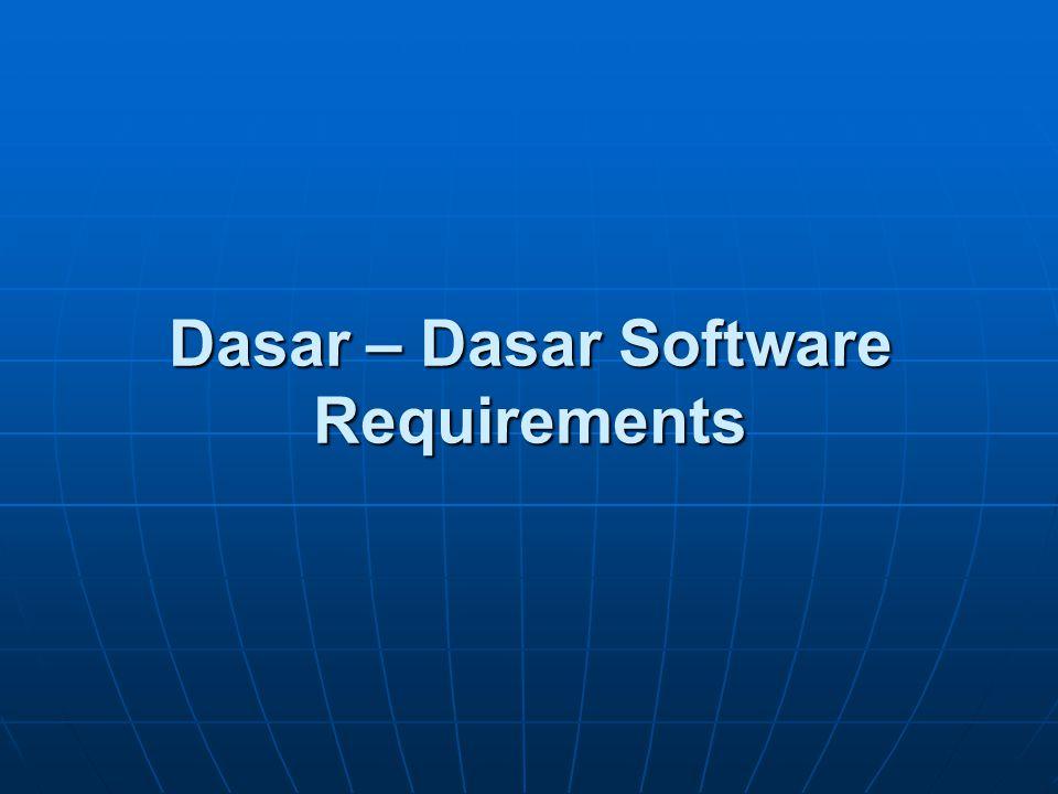 Dasar – Dasar Software Requirements