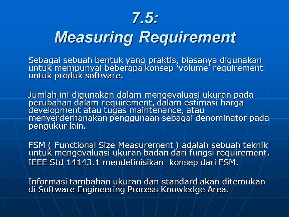 7.5: Measuring Requirement Sebagai sebuah bentuk yang praktis, biasanya digunakan untuk mempunyai beberapa konsep 'volume' requirement untuk produk so