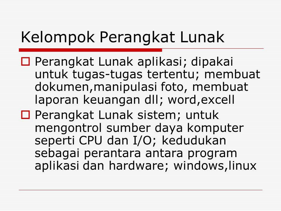 Jenis Perangkat Lunak  Commercial  Domain Public  Shareware  Freeware  Rentalware  Free Software  Open source