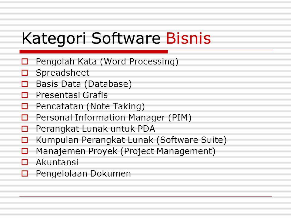 Kategori Software Grafis dan Multimedia  Computer-Aided Design (CAD)  Tata Letak dan Penerbitan.
