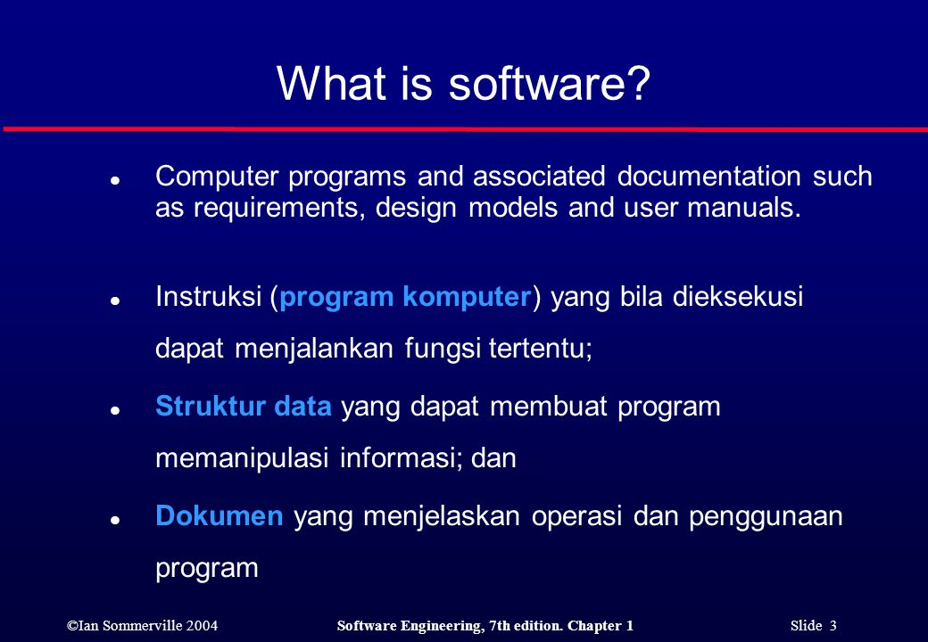 ©Ian Sommerville 2004Software Engineering, 7th edition. Chapter 1 Slide 24 End of This Session...