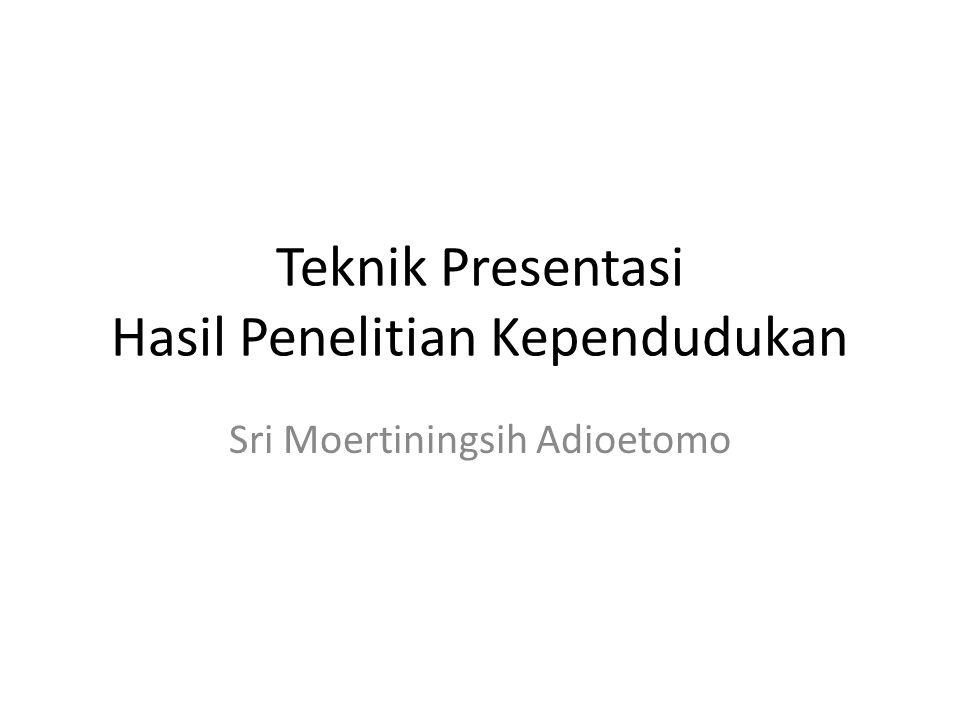 Teknik Presentasi Hasil Penelitian Kependudukan Sri Moertiningsih Adioetomo