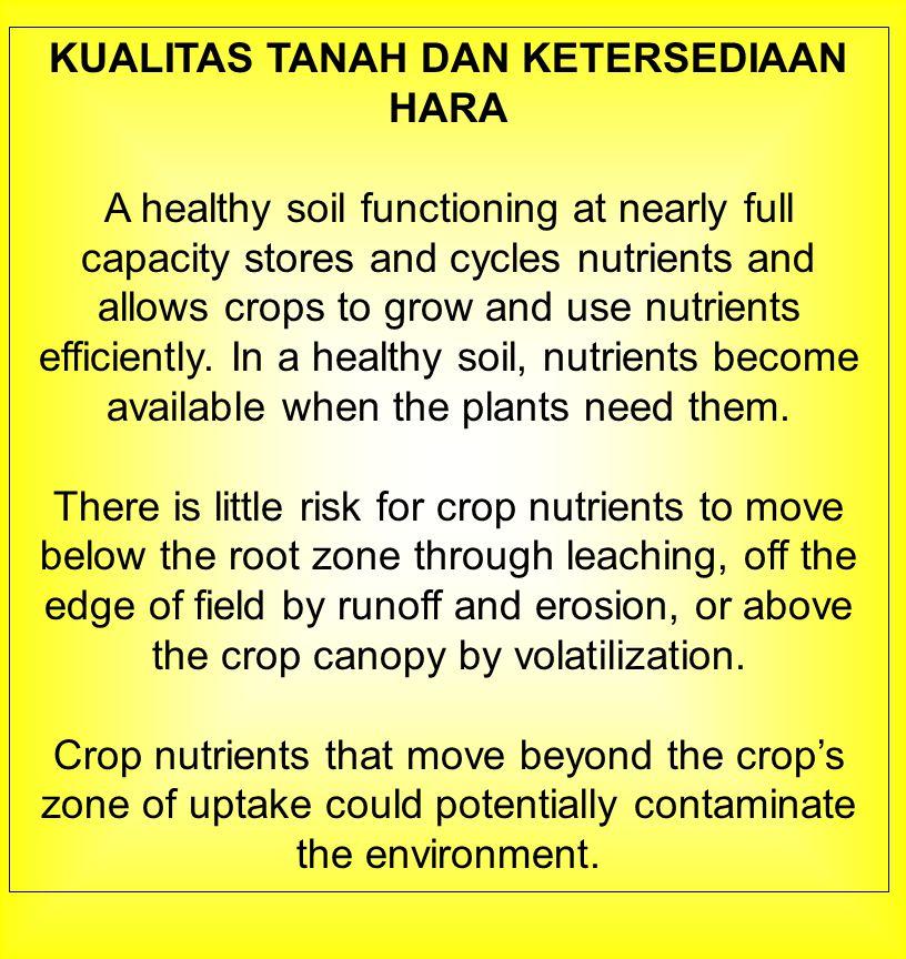 EROSI DAN KEHILANGAN HARA Erosion and runoff are both detrimental to nutrient management.