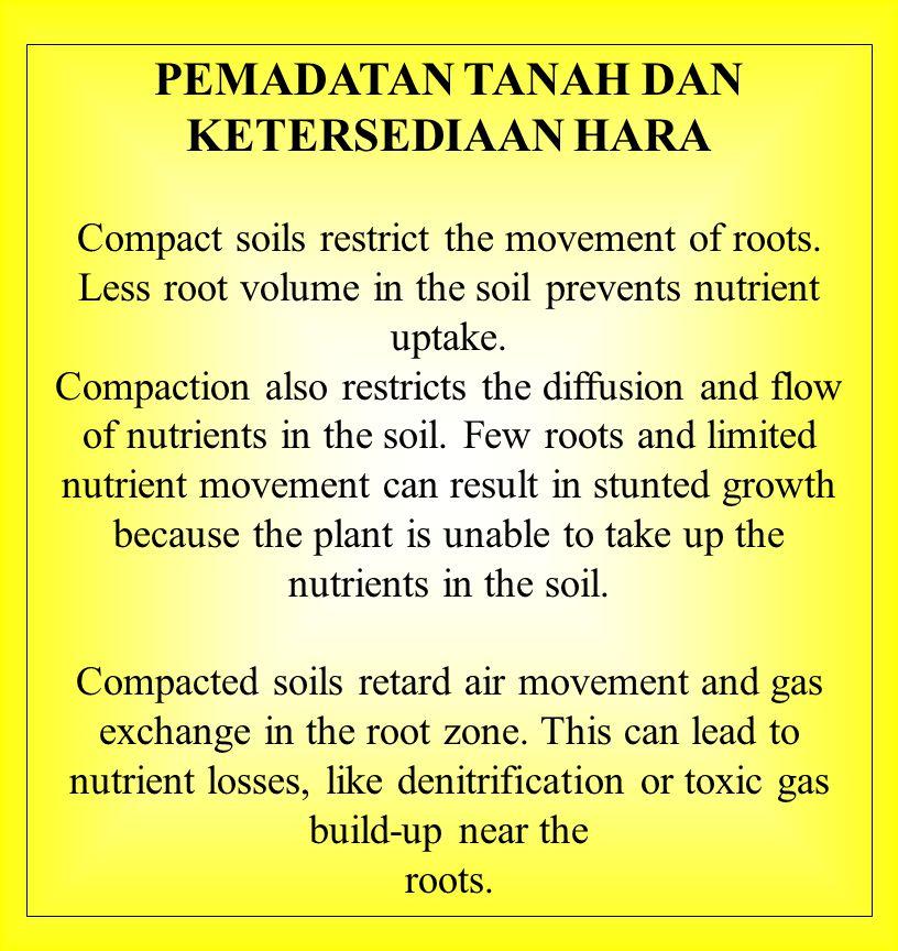 Respon tanaman terhadap pemupukan dipengaruhi oleh kesuburan tanah.
