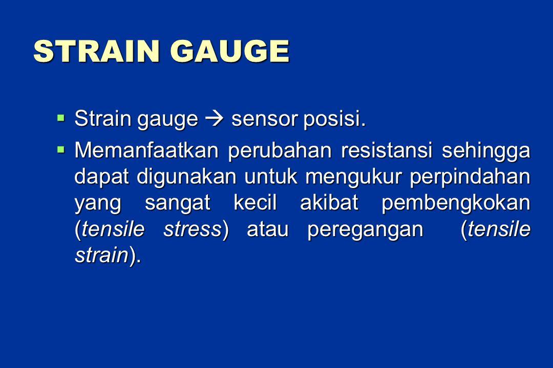 STRAIN GAUGE  Strain gauge  sensor posisi.