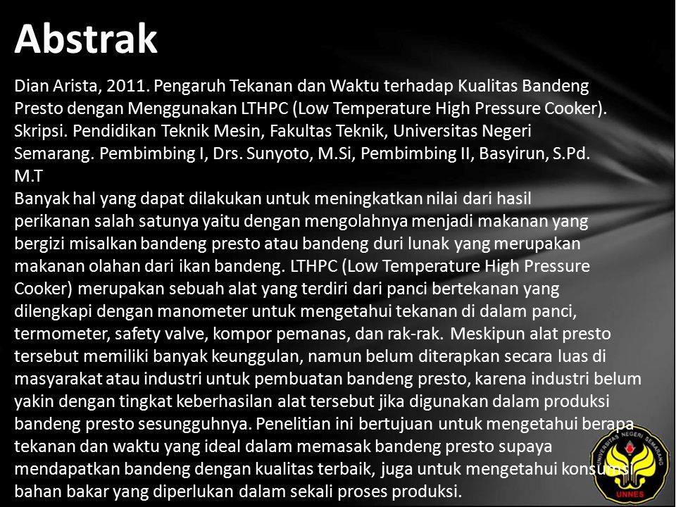 Abstrak Dian Arista, 2011.