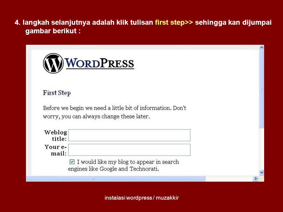 instalasi wordpress / muzakkir 5.