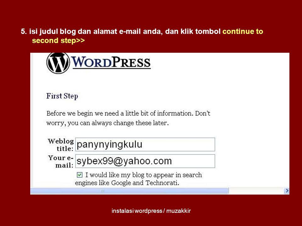 instalasi wordpress / muzakkir 6.tulis atau hafal (awas .
