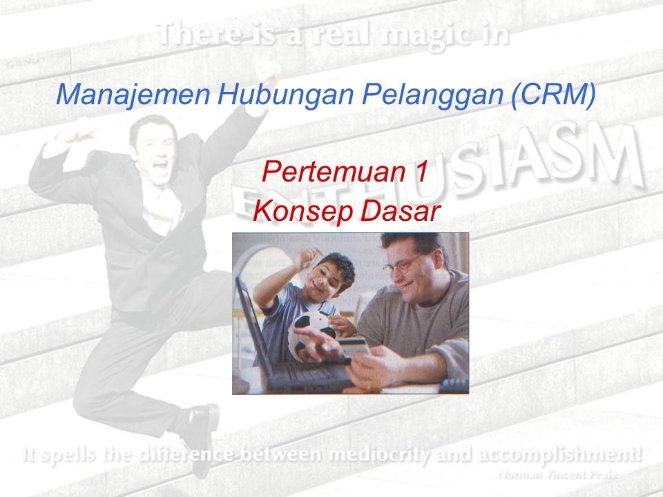 Manajemen Hubungan Pelanggan (CRM) Pertemuan 1 Konsep Dasar