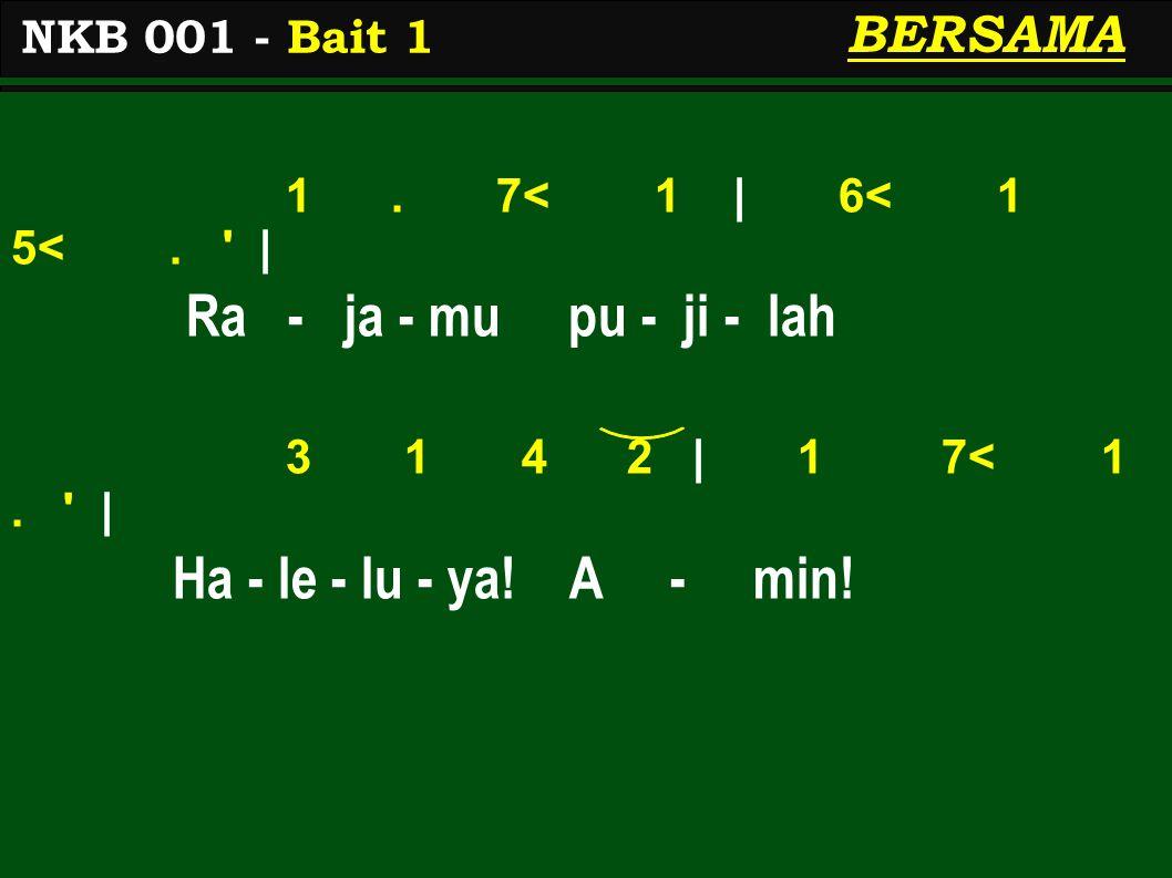 3.2 3   4 3 2.   Pa - du - kan sua-ra - mu 3. 2 3   4 3 2.