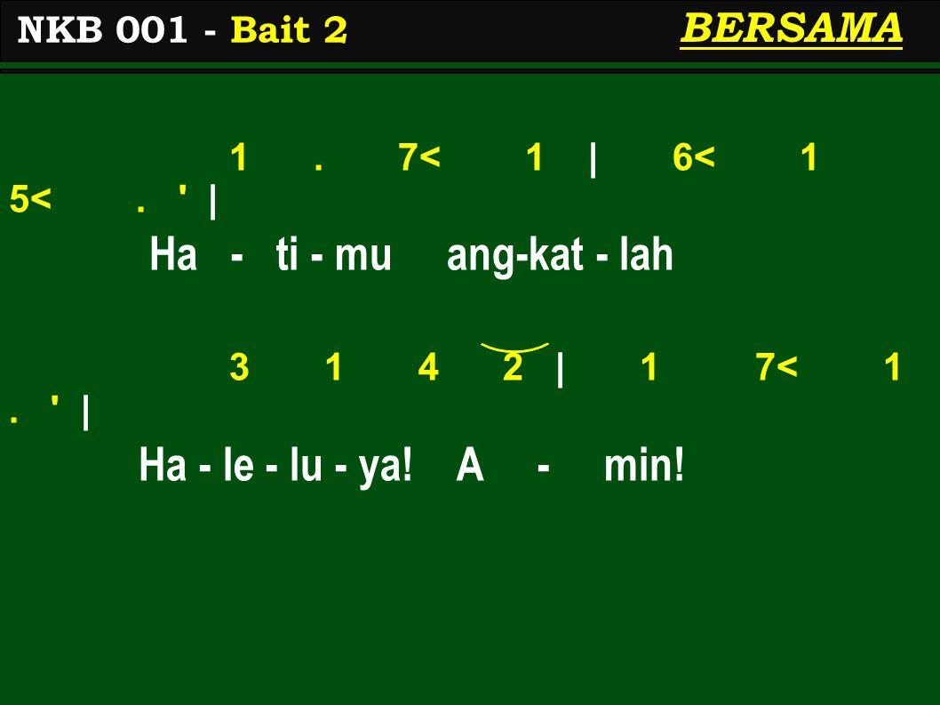 1.7< 1   6< 1 5<.   Ma - ri ber - so - rak- lah 3 1 4 2   1 7< 1.