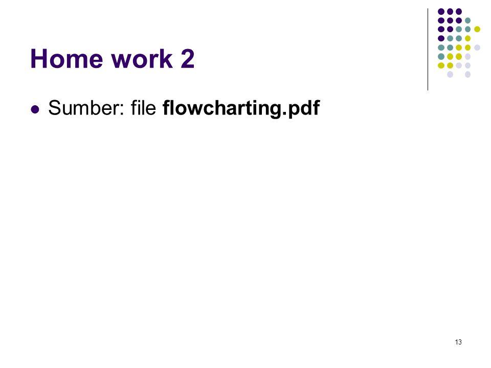 Home work 2 Sumber: file flowcharting.pdf 13