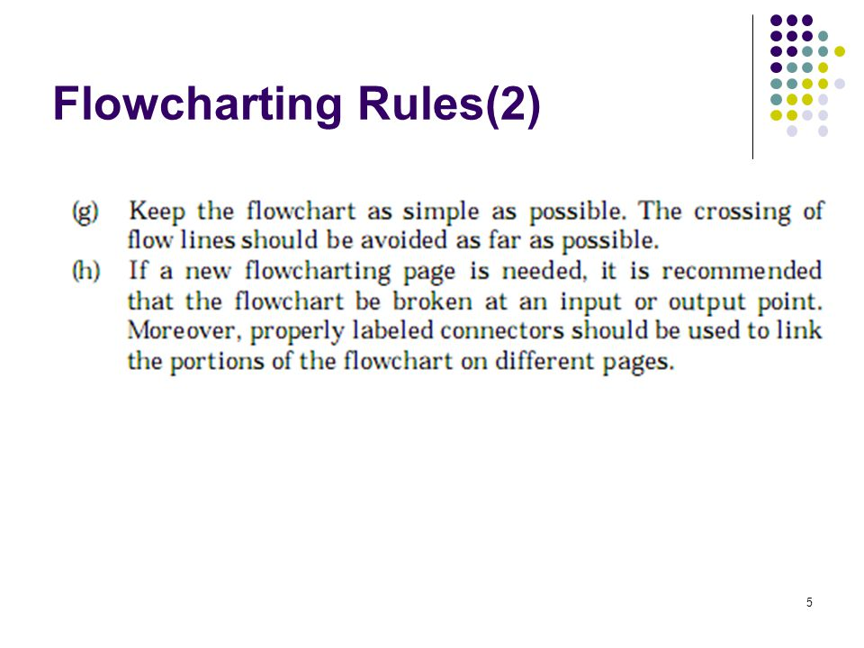 5 Flowcharting Rules(2)
