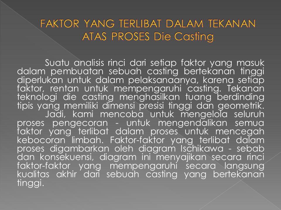 Suatu analisis rinci dari setiap faktor yang masuk dalam pembuatan sebuah casting bertekanan tinggi diperlukan untuk dalam pelaksanaanya, karena setia