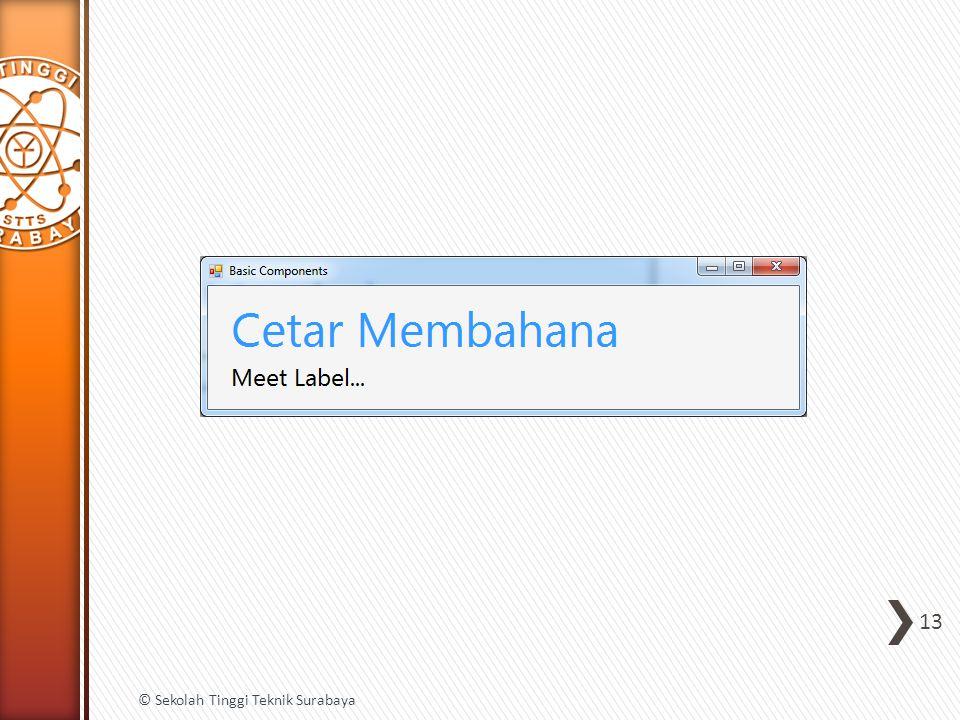 13 © Sekolah Tinggi Teknik Surabaya