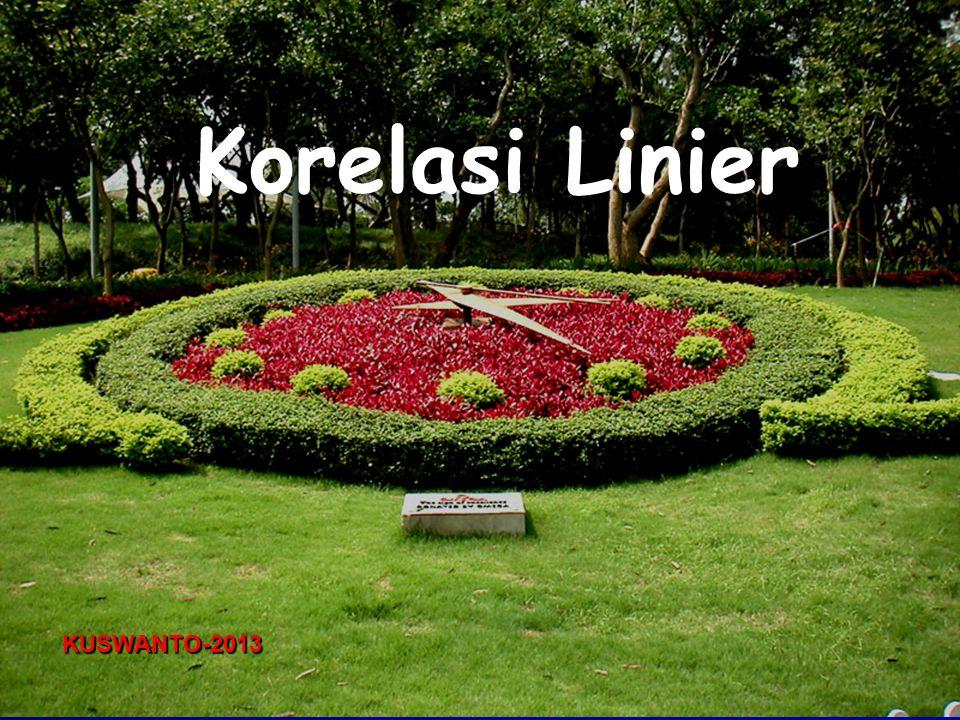 Korelasi Linier KUSWANTO-2013