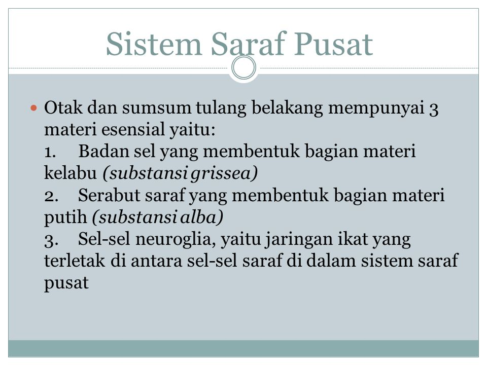 SISTEM SARAF OTONOM (TAK SADAR) Sistem saraf otonom disusun oleh serabut saraf yang berasal dari otak maupun dari sumsum tulang belakang dan menuju organ yang bersangkutan.